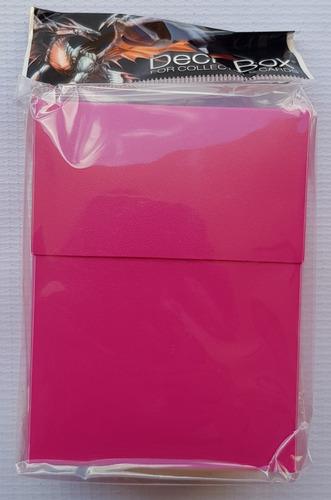 Ultra Pro Deck Box Color Solido Rosa Brillante - Bright Pink
