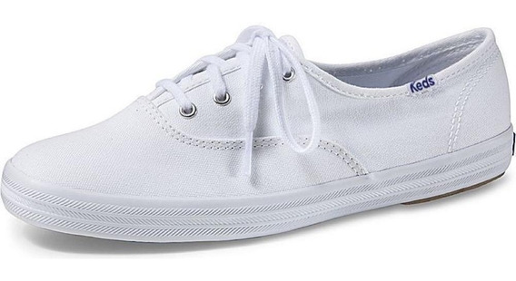 Tenis Keds Champion Woman Canvas Kd100256 Lona - Branco