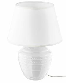 Lámpara Led Lámpara De Mesa Color Blanco Stoneware