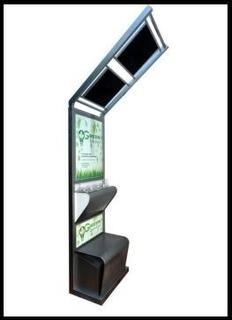 Totem Solar Para Carregar Celular - Plataforma Publicitária
