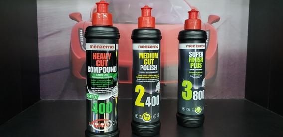 Kit Pulido Menzerna 400 Green Line + 2400 Médium Cut + 3800