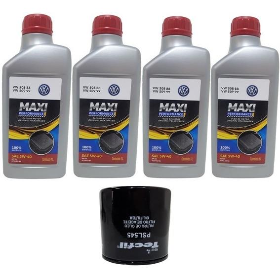 Troca Óleo Maxi Castrol 5w40+ Filtro Vw Up 1.0 3cil Up Tsi
