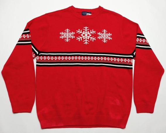 Swaeter Navideño Christmas Rojo Talle L