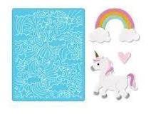Folder Grabado Suaje Corte Troquel Unicornio Arcoiris Sizzix
