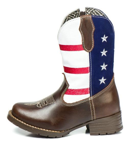 Lançamento Bota Infantil Texana Couro Country Cano!@
