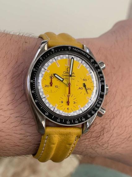 Relógio Omega Speedmaster Schumacher Amarelo Perfeito Estado