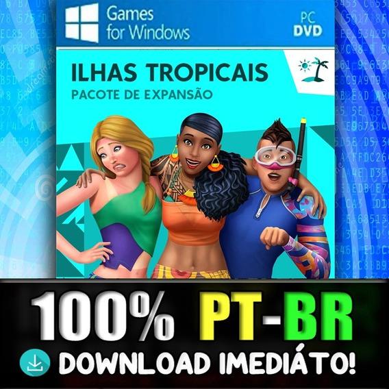 The Sims 4 Pc + Ilhas Tropicais + 100%pt-br Midia Digital