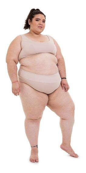 Calcinha Fio Duplo Plus Size Wonder Size Nude