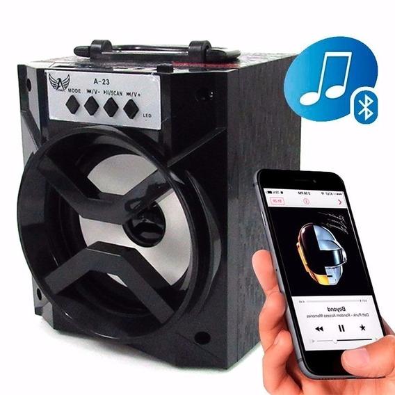 Caixa De Som Bluetooth Portátil Rádio Fm Micro Sd 8w Bh-1019