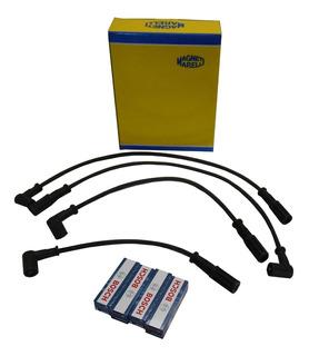 Cables Magneti Marelli Y Bujías Para Fiat Idea Strada Punto 1.4 8v Fire