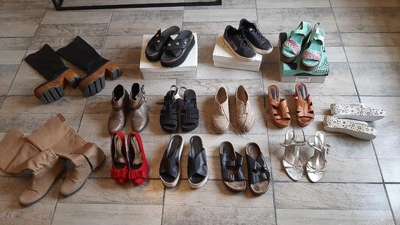 Lote De Zapatos Botas Sandalias