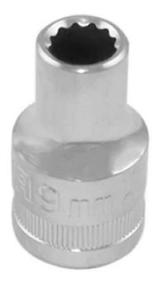 Soquete Estriado Com Boca Sextavada 1/2 Polegadas 9mm