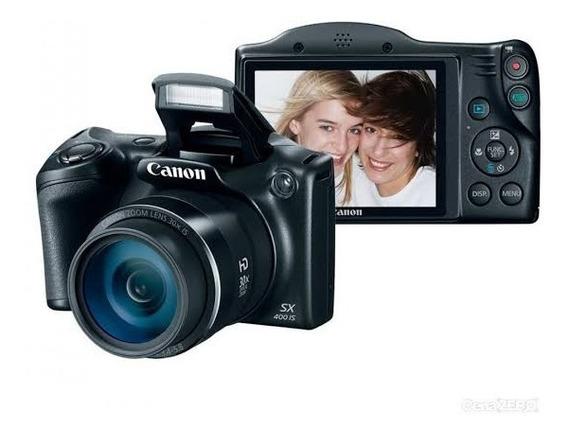 Câmera Canon Sx400is Superzoom 30x + Bolsa Bag Semi Nova