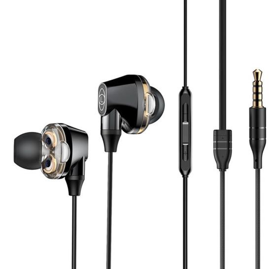 Audífonos Cableados Baseus H10 4 Bocinas Manos Libres 3.5mm