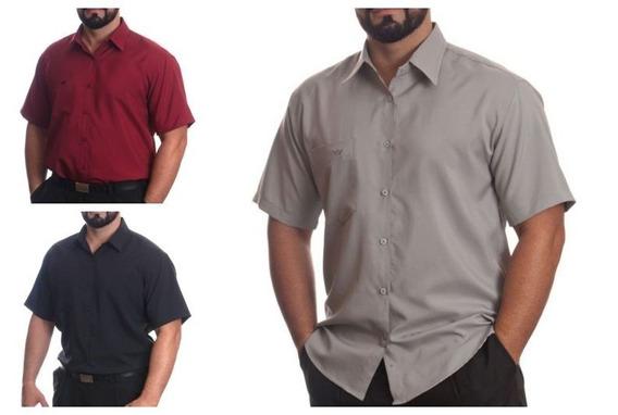 Lote Com 12 Camisas Sociais Manga Curta Revender Atacado