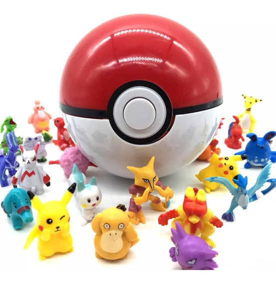 Boneco Pokemon 25 Miniatura 2-3cm Pokebola Pikachu S/repetir