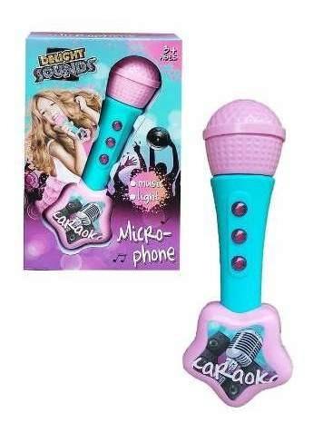 Micrófono Crea Efecto En La Voz Karaoke Con Música Y Luces