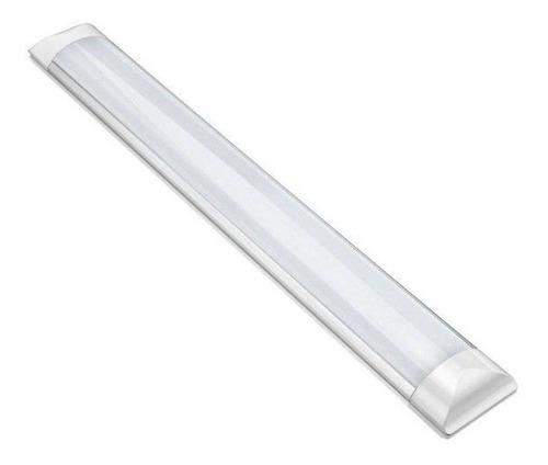 Luminária Linear Led 20w Sobrepor 60cm Tubular Calha Teto