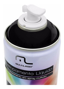 Spray Envelopamento Tinta Preto 400ml Multilaser Liquido