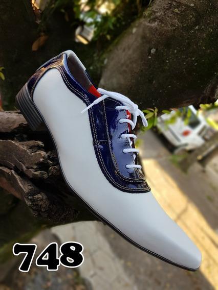 Sapato Social Masculino Todo Em Couro Legitimo Branco #promo