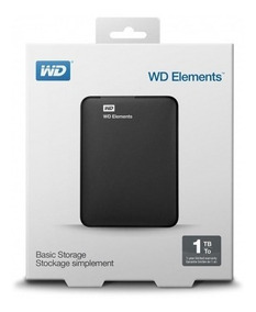 Hd Externo Western Digital Wd Elements 1tb Preto