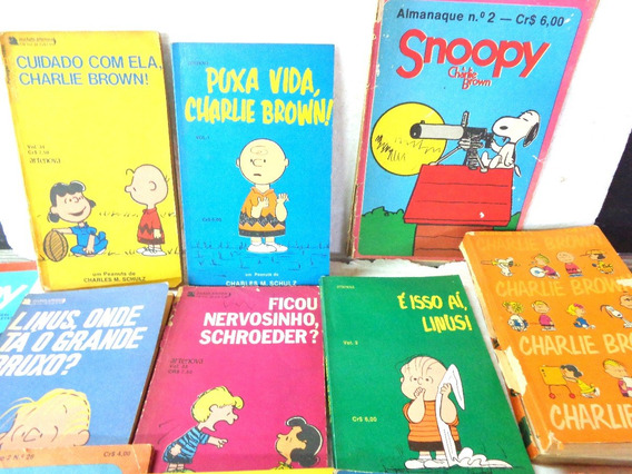 Snoopy Charlie Brown Almanaques Lote 13 Revista Antigas Rara