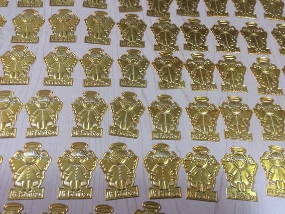 Plaquitas De Repujado Color Oro 10 Docenas Enfoque Exclusivo