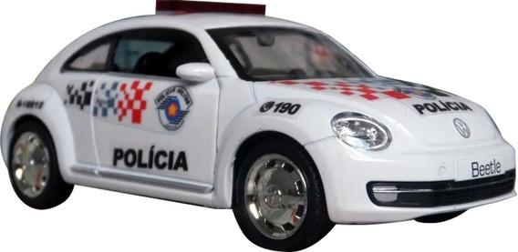 Miniatura Vw New Beetle Fusca Polícia Militar Pm Sp Atual