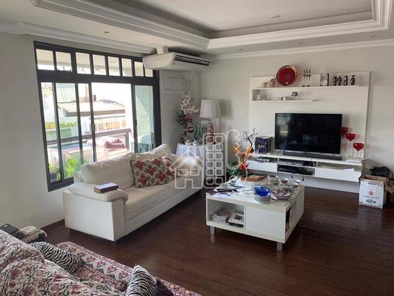 Apartamento Com 4 Dormitórios Para Alugar, 296 M² Por R$ 4.000,00/mês - Icaraí - Niterói/rj - Ap3029