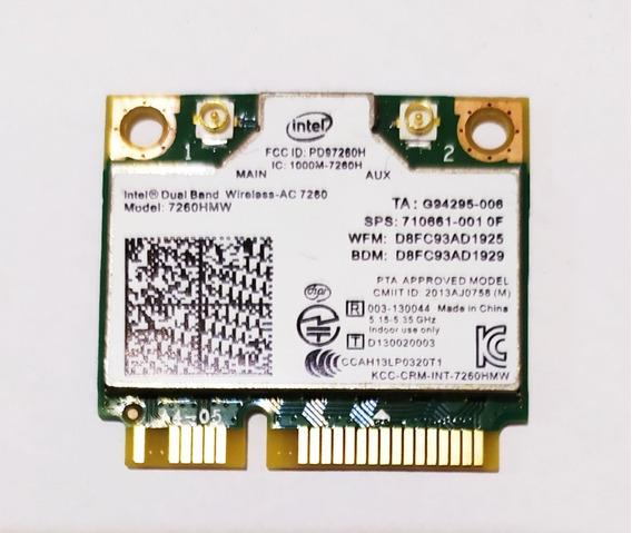 Placa 5ghz Wifi Wireless Ac 7260 Nova Notebook