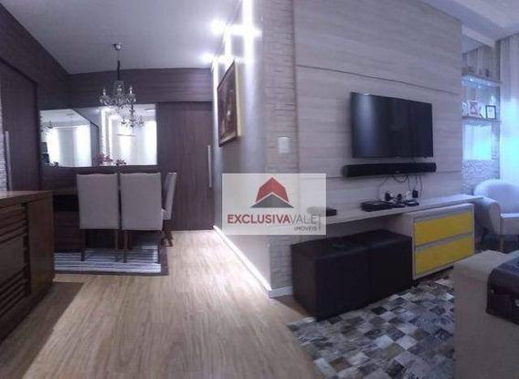 Apartamento Com 3 Dormitórios À Venda, 82 M² Por R$ 400.000,00 - Jardim Satélite - São José Dos Campos/sp - Ap2701