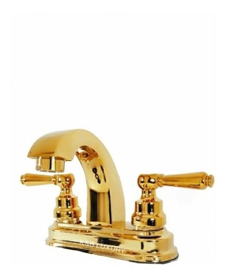 Mezcladora Lavabo Dorado Oro + Envío Gratis