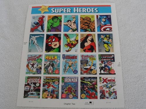 Imagen 1 de 4 de 20 Timbres Eu Marvel Super Heroes Nuevos 2006