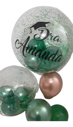 Imagem 1 de 2 de Balão Bubble  Personalizado Com Nome