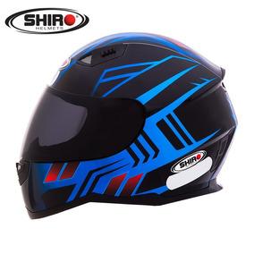 Capacete Shiro Sh881 Fly Racing Preto/azul