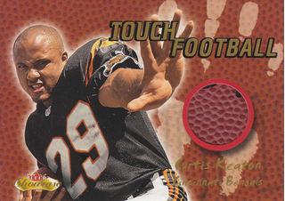 2000 Fleer Showcase Touch Football Curtis Keaton Bengals