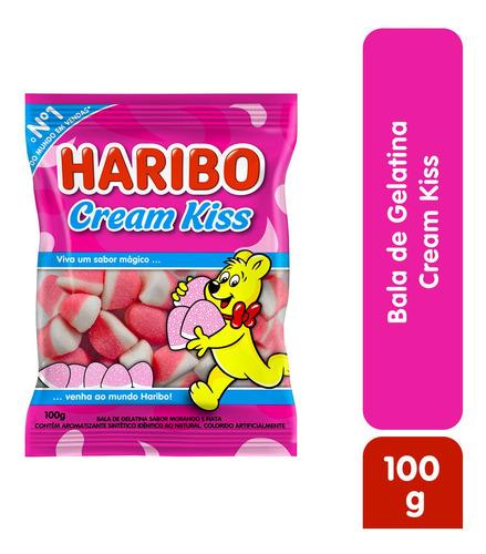 Imagem 1 de 2 de Bala Gelatina Cream Kiss Haribo 100g