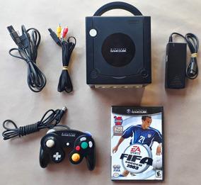 Console Nintendo Gamecube Original Preto Controle Completo