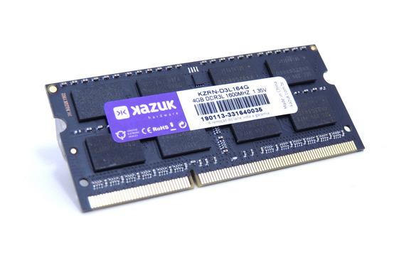 Memória 4gb Notebook Kazuk - 1600 Mhz Ddr3l Ram Kzrn-d3l164g