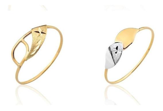 2 Anéis Ouro Puro 10k Coleção Amarelo Puro A5 A18