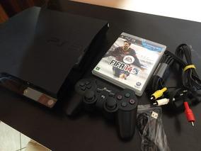 Ps3 Slim 160gb Playstation 3 Slim Na Garantia 1 Contr 1 Jogo