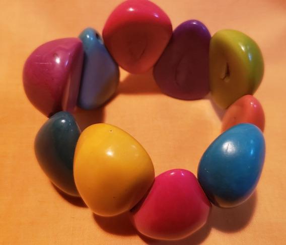 Pulseira Contas Multicoloridas