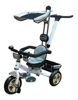 Triciclo Duck Lexus Con Manija Y Capota Ws-604