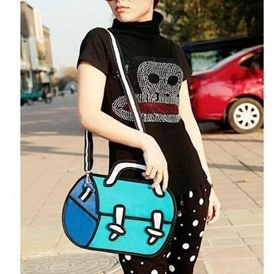 Bolso Morral Diseño 2d 3d Cartoon Shoulder Bag Importada 16