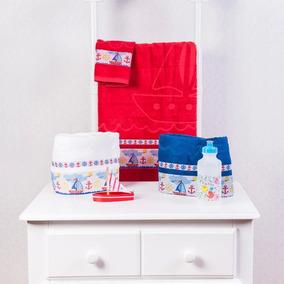 Toalhas Infantil Vermelha 02 Unidades + Garrafinha Squeeze