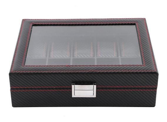 10 Grids Caja De Almacenamiento De Relojes, Estuche De Joyer