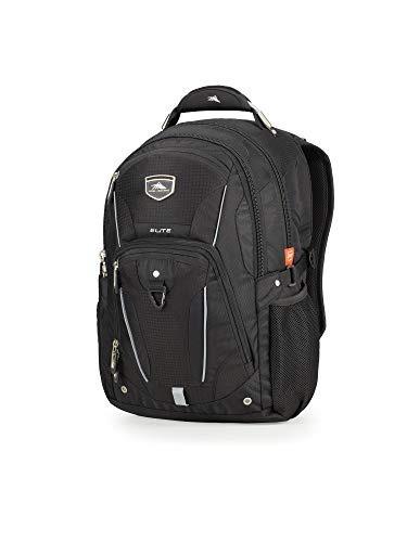 High Sierra Elite Laptop Backpack, Black