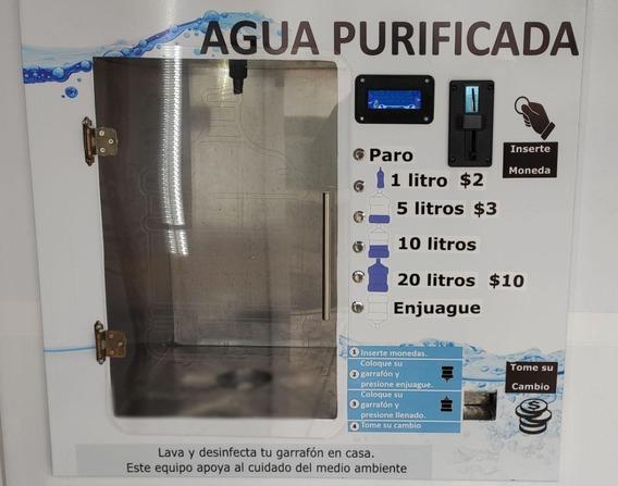 Ventana Vending De Agua Purificada Con Enjuague Y Cámbio