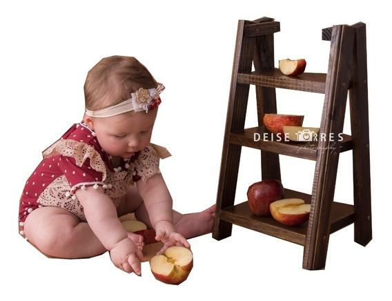 Escadinha Cenário Foto Prop Newborn Acompanhamento Bebê Enve