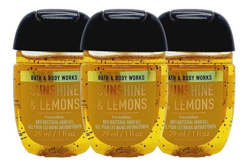 Gel Antibacterial Bath & Body Works Sunshine & Lemons 3pz
